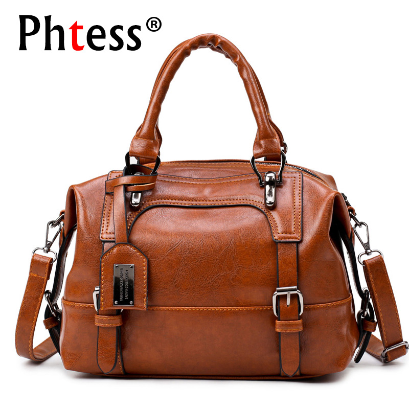 Boston Luxury Leather Handbags Women Bags Designer High Quality Famous Brands Shoulder Bags Sac a Main Femme Ladies Hand Bags цена
