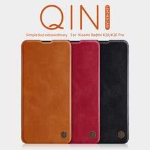 Case For xiaomi redmi K20 Original Nillkin QIN Series Flip Leather Cover Pro Vintage