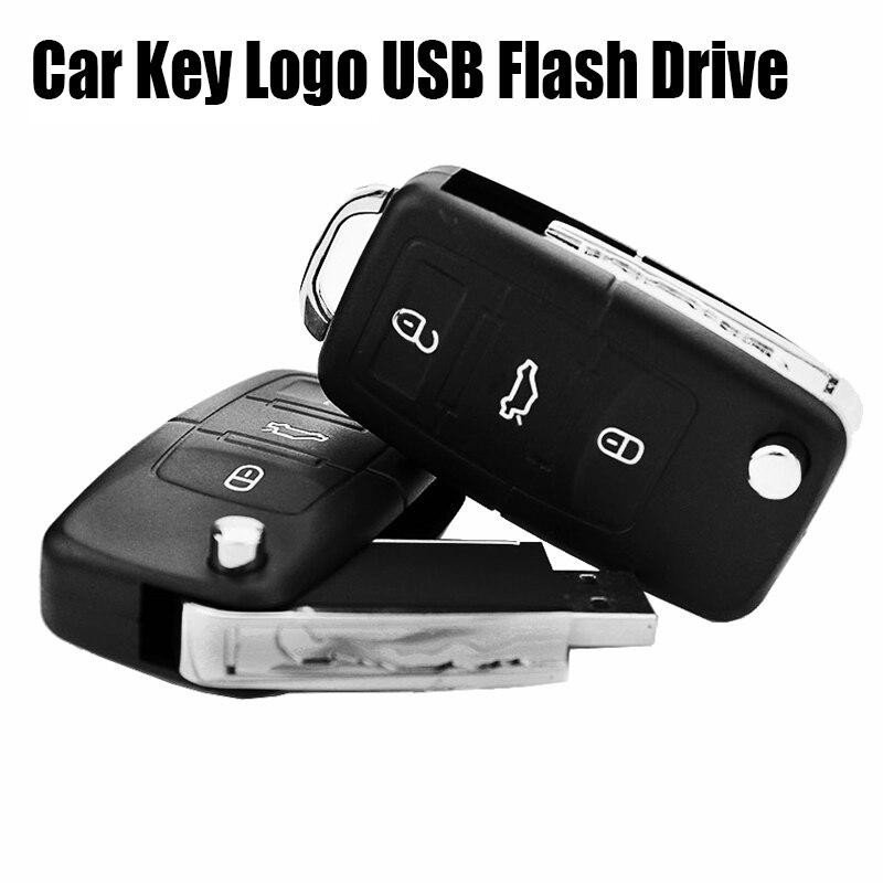 2018 Nova Eshanmu VW Logotipo da Chave Do Carro Pendrive de 128 gb USB Flash Drive 128 gb gb gb 16 32 64 gb 8 gb Memory Stick Pen Drive Personalizado