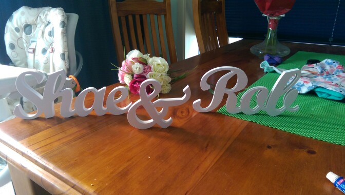 personalised wooden letters