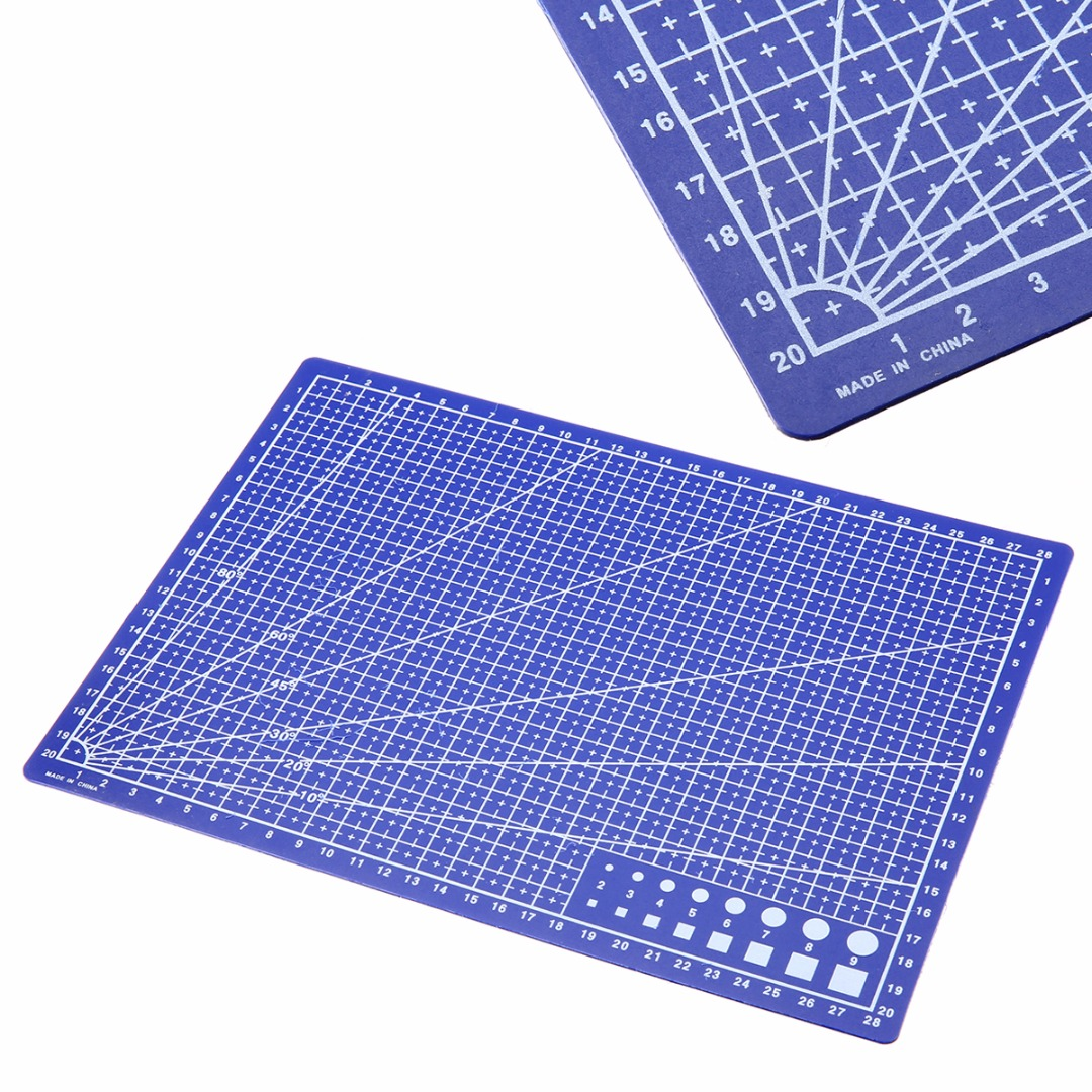 A4 grid lines self healing cutting mat durable blue diy for Cutting mat for crafts