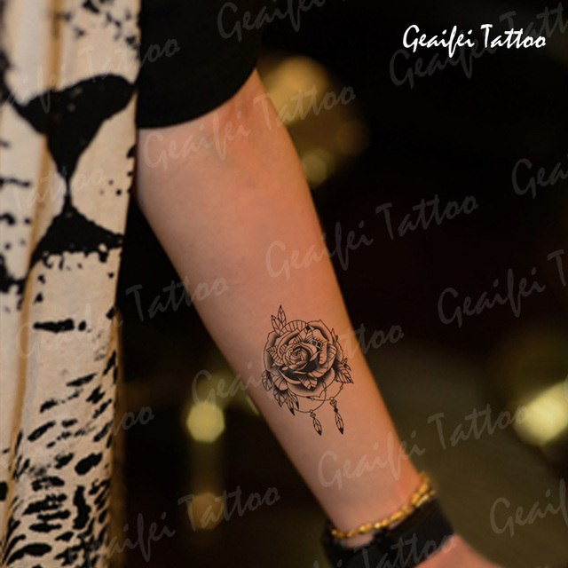 Small Rose Temporary Tattoo Arm Neck Back Leg Waist Sex Products Men