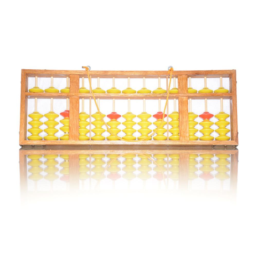 Lomalson Abacus ressources d'apprentissage 13 colonne chinois Soroban caculateur classique en bois éducatif comptage jouet Maths apprentissage - 3