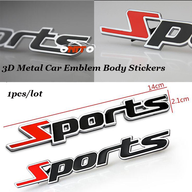 1pcs Lot For Sport Sports Car Styling Stickers Auto Logo Badge Car