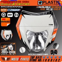 Powerzone Motorcycle Dirt Bike Motocross Supermoto Universal Headlight Headlamp For KTM EXC XCW EXCF SX SXF 125 250 300 450 500