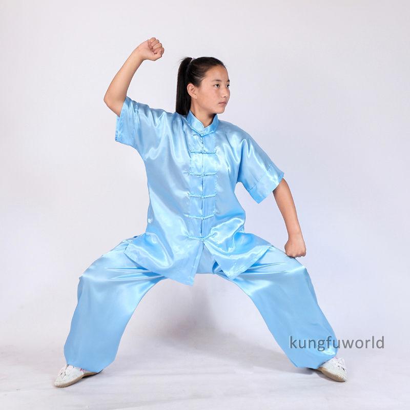 Chlapci a dívky Changquan Tai chi oblek Wushu Bojová umění Nanquan Wing Chun Uniformy