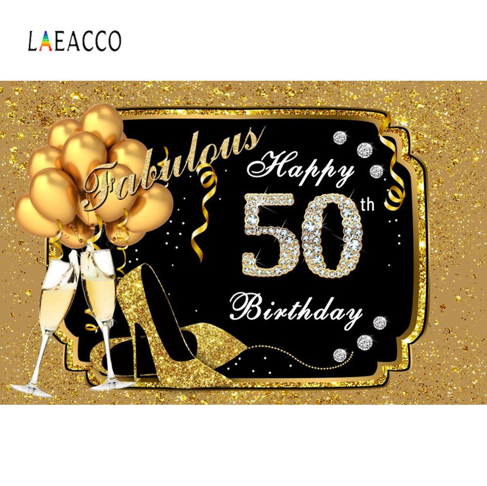 Photo <font><b>Backdrops</b></font> Fabulous Women Gold Balloon <font><b>Happy</b></font> <font><b>50th</b></font> 30 40 60 <font><b>Birthday</b></font> Party Diamond Photo Backgrounds Photocall Photo Studio image