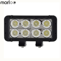 Marloo Auto Accessories 8Inch 80W Led Work Light Bar Spot Flood Offroad Lamp SUV ATV Truck Driving led bar 12V 24V