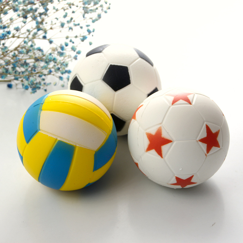 Anti-stress Fun Toy Kid Adult Gift Cute Football Volleyball Starball Squishy Slow Rising Cream Scented Decompression Kids Gift