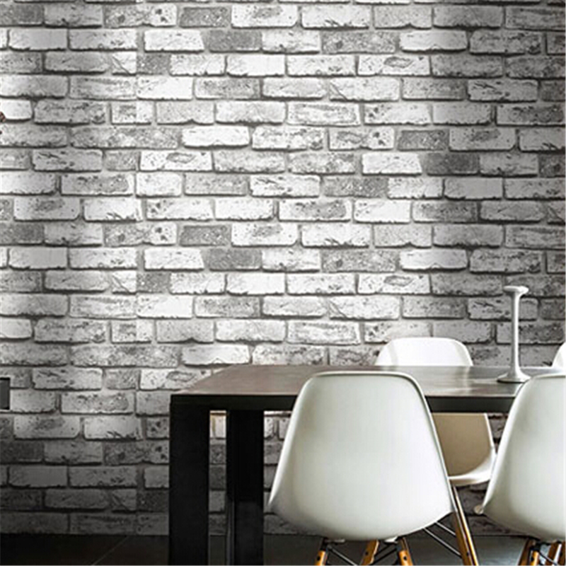beibehang Vintage Shabby Brick Deco Vinyl Wallpaper roll Brick Stone Faux Realistic PVC papel de parede for home background wall modern vintage pvc 3d stone brick printing style vinyl waterproof pattern wallpaper wall paper roll papel de parede 10m