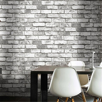 beibehang Vintage Shabby Brick Deco Vinyl Wallpaper roll Brick Stone Faux Realistic PVC papel de parede for home background wall