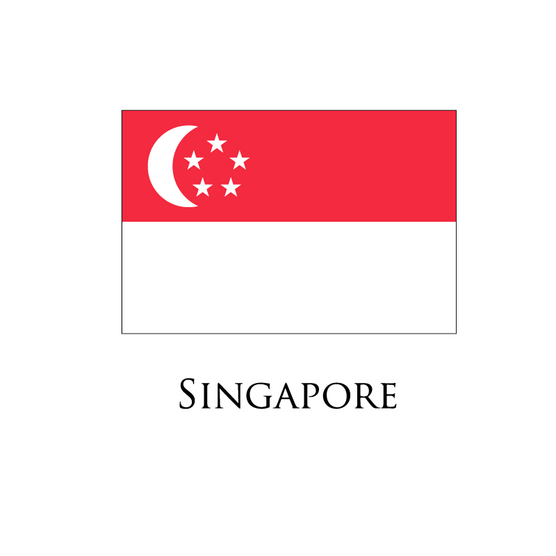 Digital flag Printing flag Singapore flag Customize the