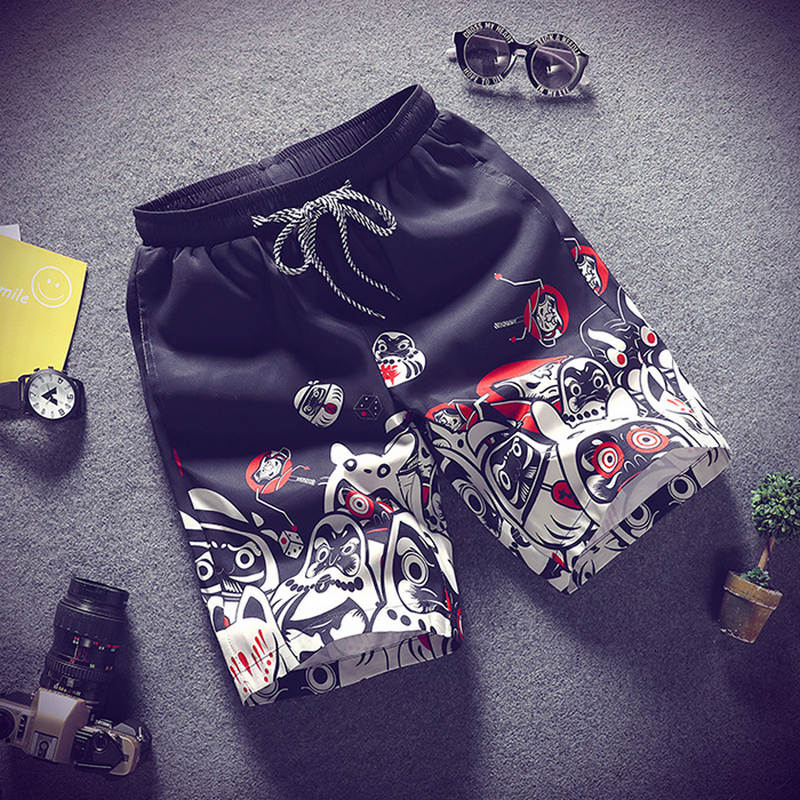 Men's Shorts Large-Size Summer Casual Thin Comfort Print Section Breathable M-4XL Personality