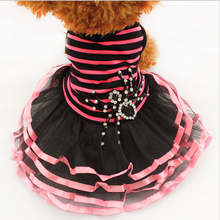 Pet supplies wholesale wedding dress skirt Rose Green Small Dog clothes Spring Summ