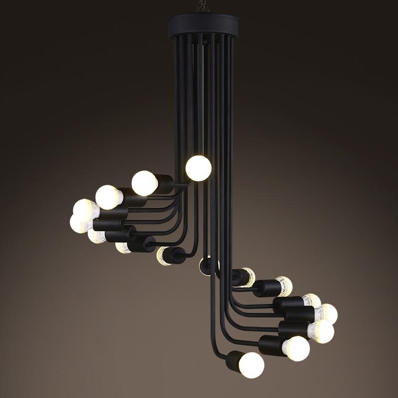 One Combo Loft Modern LED Pendant Light Spiral Staircase Drop Lighting  Fixture AC85V 240V Input