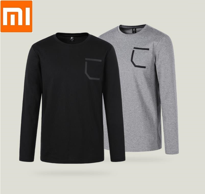Xiaomi youpin ULEEMARK Stylish casual men comfortable round neck long sleeved T shirt Moisture absorbing Soft