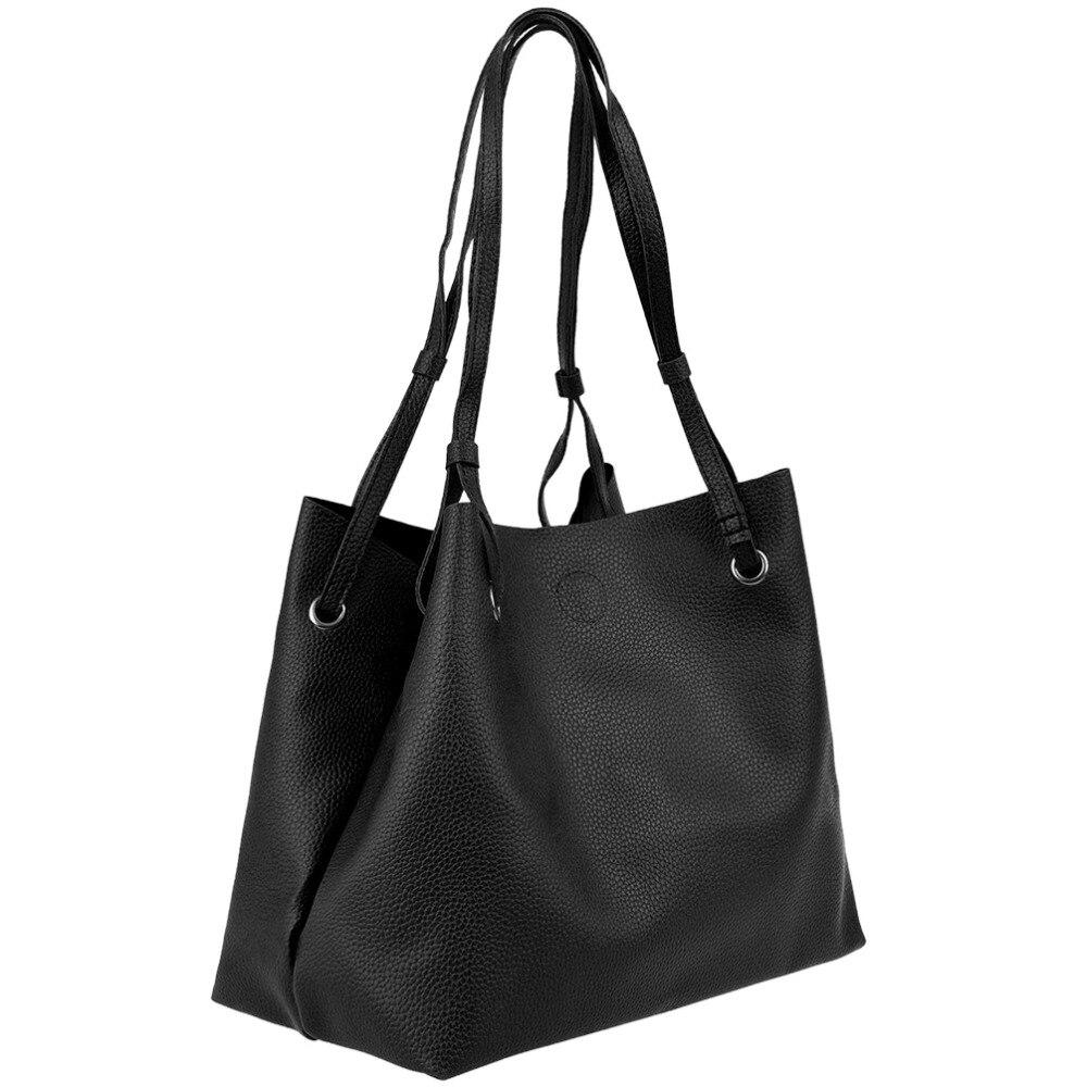 7fcf75e1faf9 Vbiger Women Single shoulder Bag Set Soft Leather Tote Bag Clutch Bag Set  Casual Handbags