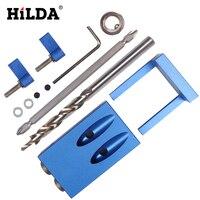 HILDA Pocket Lỗ Jig Kit Hệ Thống Cho Gia Công Gỗ & Mộng + bước Khoan Khoan Bit và Phụ Kiện Mini Kreg Phong Cách Công Việc Gỗ Tool Set