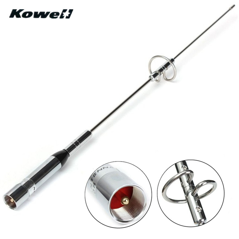 KOWELL Dual Band UHF/VHF 144/430 MHz 150 W Amateur De Voiture Radio Mobile/Station AntennaSignal Booster amplificateur Antennes Fouet Mât