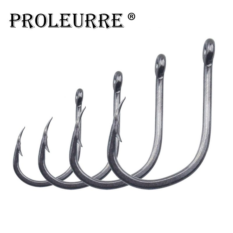 100pcs/lot High Carbon Steel 2#-13# Carp Fishing Hooks in Fly Fishhooks Jig Big Barbed Hook Pesca Fishing Accessories
