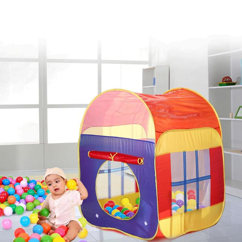 cheap for discount c18de 0affc Baby Play Tent Toy Foldable Ocean Ball Pool Game House Inflatable Portable  Tent Pool Foldable Children Outdoor Sports Tents Gift Toddler Tent And ...