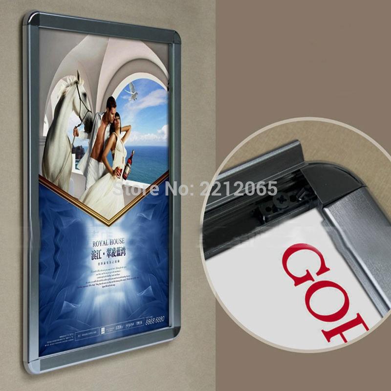Pack/5 unidades) aluminio Snap cierre cartel Marcos S, exhibición ...