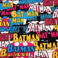 140X100 cm Kleurrijke Woorden Batman Katoen voor Baby Boy Kleding Naaien Beddengoed Set Hometextile Patchwork DIY-AFCK441