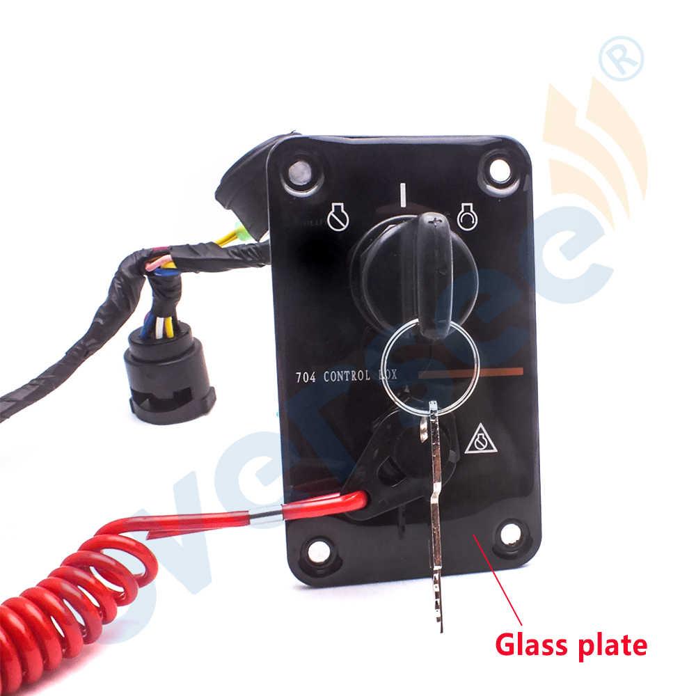 Engine Ignition Key Switch Panel Switch Assembly Single Key Switch Panel Assembly 704-82570-12-00 Fit for Yamaha Outboard Yacht 12V Ignition Key Switch Panel