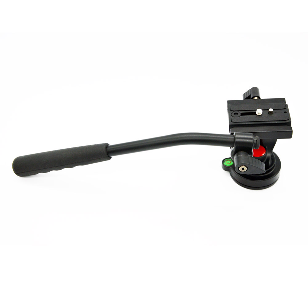 Fluid Head Max 5KG with 1/4 Quick Rlease Plate Video DSLR Camcorder Fluid Tripod Head Drag slider for Monopod DSLR Camera