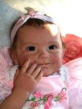 55 cm Cuerpo Blando de Silicona Renacer Baby Dolls Realista Juguete Recién Nacido Baby Doll Chica Brinquedos Recién Nacido Bebés NPKCOLLECTION