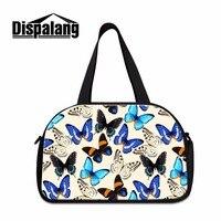 Dispalang New Multi function Butterfly 3D Printing Luggage Travel Bag Foldable Duffle Tote Bag Portable Women Shoulder Handbag