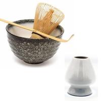 Elegant Traditional Matcha Giftset Natural Bamboo Matcha Whisk Scoop Ceremic Matcha bowl whisk holder Japanese Matcha tea Sets