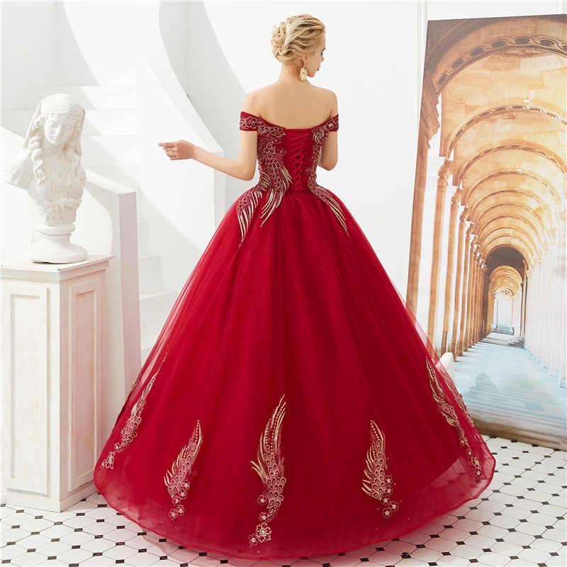 Lindo tule vestido de baile 2019 apliques emboridery beading quinceanera vestidos robe de bal 15 doce dezesseis vestidos debutante
