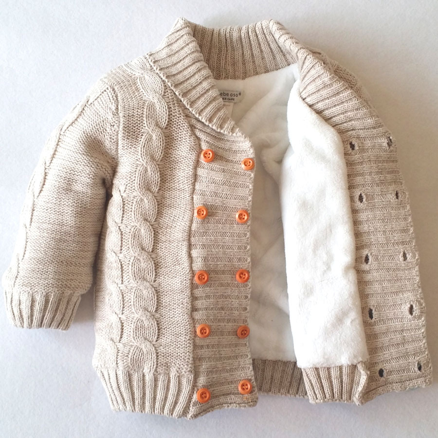 ed275c285 Baby boy girl Winter Thick Clothes kids Warm sweater Jacket winter ...