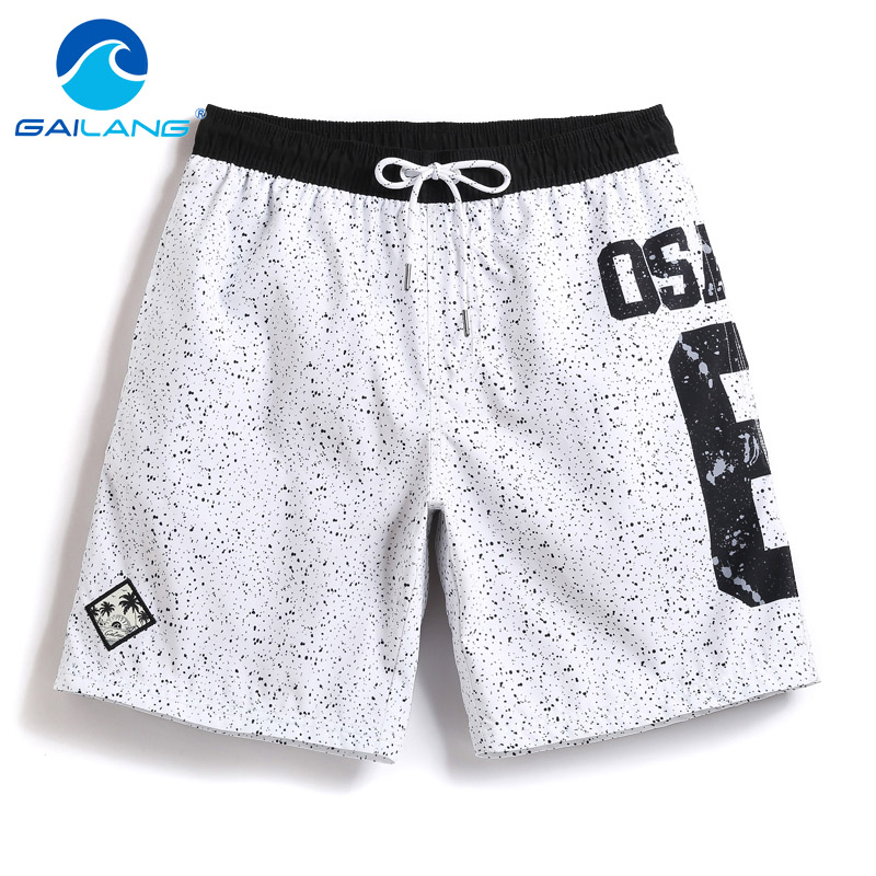 Gailang Brand Men Beach Shorts Trunks Swimwear Swimsuits Men's Workout Jogger Bottoms Casual Quick Dry Boxers Board Man Bermduas