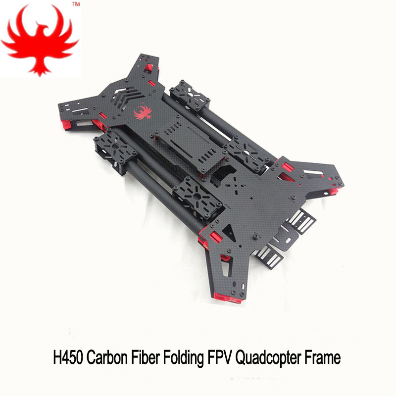 DIY FPV drone quadcopter H4 Alien 450 / 680 pure carbon folding frame 450mm/680mm frame Support X8 mode