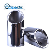 For Skoda Stainless Steel Exhaust Tip Pipe Muffler Car Styling Modified Tail Dual Letout