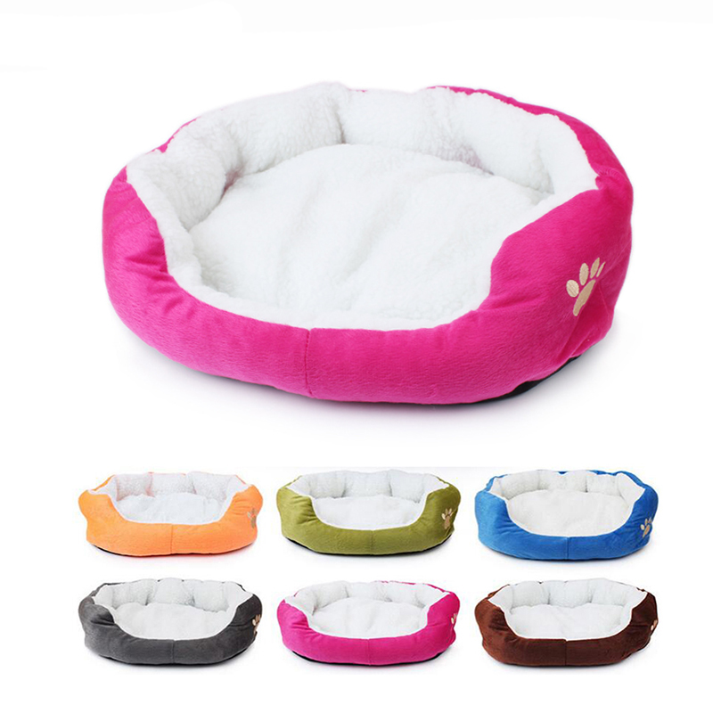 Fashion Footprint Dog Bed Soft Pet House Mat For Small Medium Dog Winter Warm Teddy House Cotton Kitten Dog Sleeping Mat