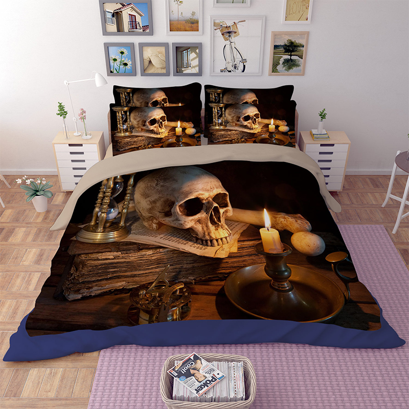 aliexpress.com : acquista nuovo arrivo 3d scheletro umano teschio ... - Copriletto Con Teschio