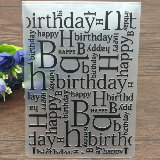 HAPPY BIRTHDAY Plastic Embossing Folders for DIY Scrapbooking Paper Craft/Card Making Decoration Supplies