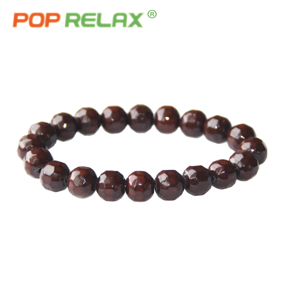 POP RELAX health care tourmaline ball bracelet Korea germanium stone negative ion balance energy fashion bracelets for women men