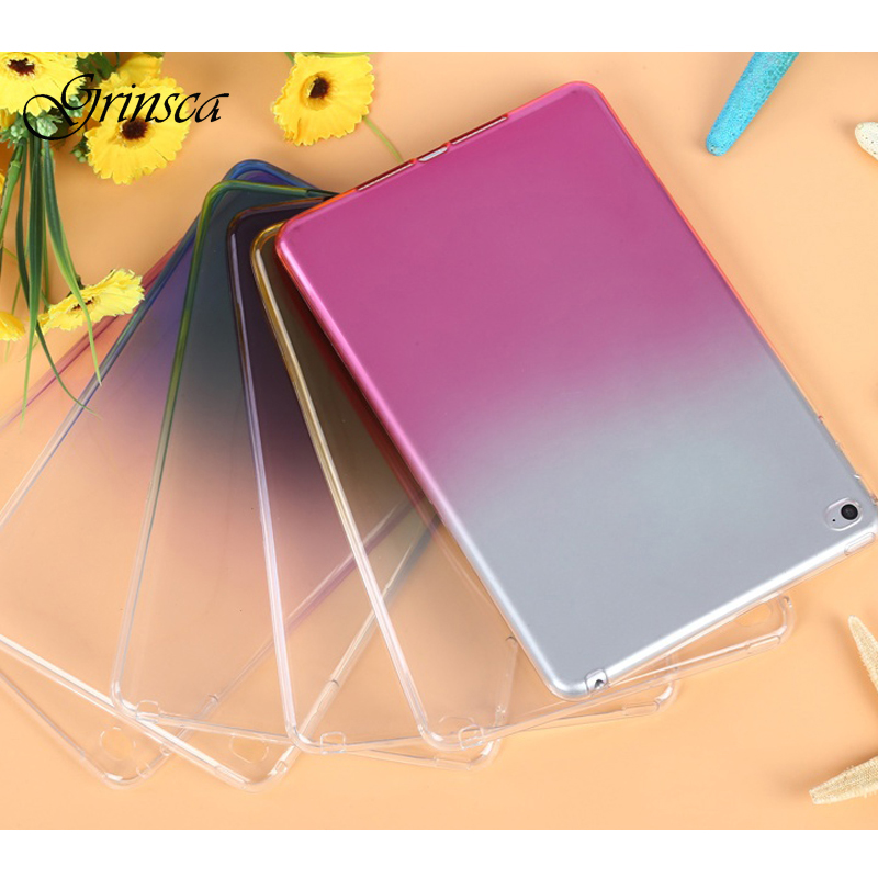 Case for iPad Mini 4 Soft TPU Transparent Back Cover for iPad mini 4 Case Slim Candy Gradient Color Clear Case