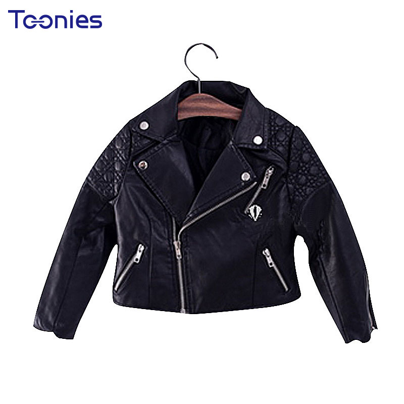 Hot Sale New Fashion Kids Leather Jacket PU Girls Jackets ...
