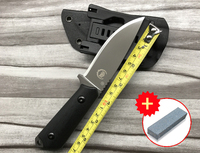 FBIQQ Carry high survival camping outdoors sharp small tactical EDC Fixed blade knife fruit gift straight knives + grindstone