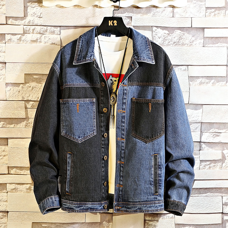 Autumn Spring 2020 Plus Size 5XL 4XL-L MAX CHEST 146CM Denim Jeans Jacket Men Stand Collar Casual Fashion Clothes