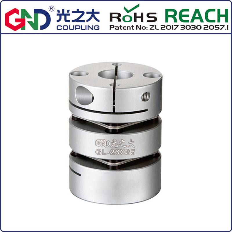 <font><b>Couple</b></font> GL alloy double diaphragm D50 L57 clamping series Shaft Coupling for steppermotor image