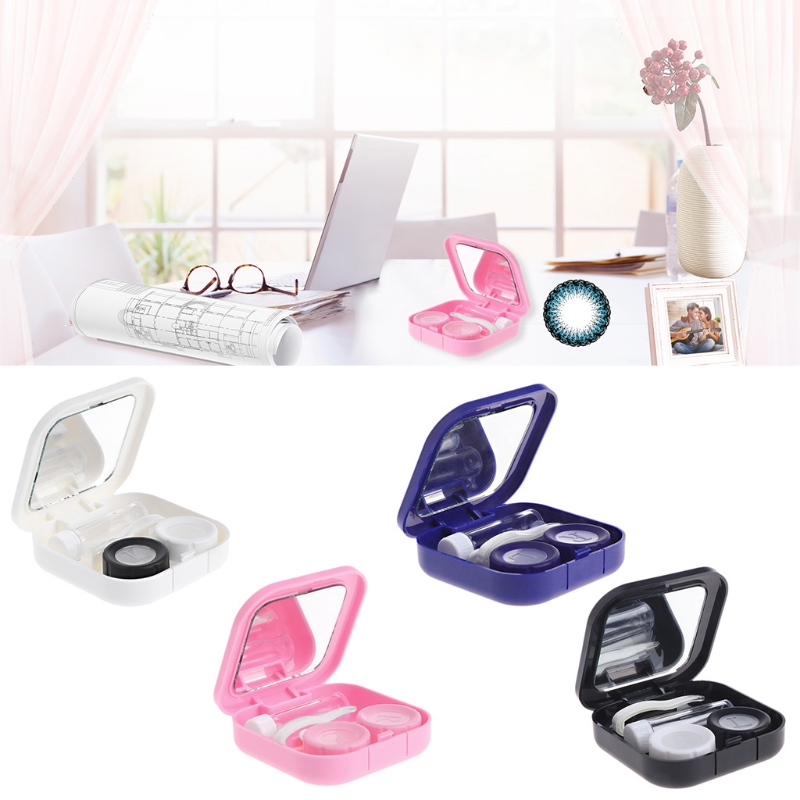1 Set Contact Lens Case Ogen Care Kit Houder Container Gift Reizen Draagbare Accessaries Glanzend Oppervlak