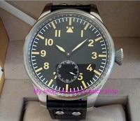 55 mm very big dial PARNIS Asian 6498 Mechanical Hand Wind Mechanical movement men watches Mechanical watches 308