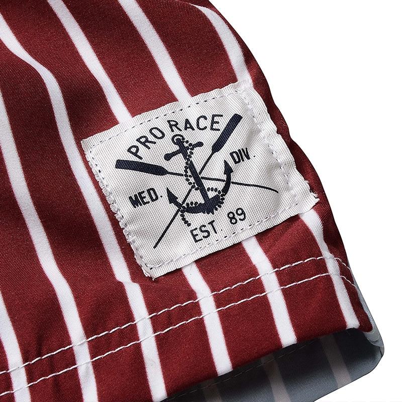 LKBEST pantalones cortos de moda para hombre de rayas de secado - Ropa de hombre - foto 4