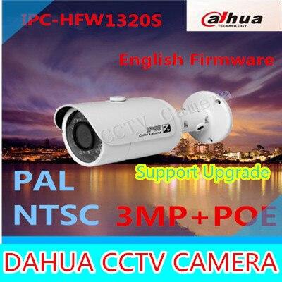 все цены на  Dahua Original English version firmware upgradable IPC-HFW1320S 3MP 1080P IP POE Onvif outdoor IR Network CCTV security Camera  онлайн